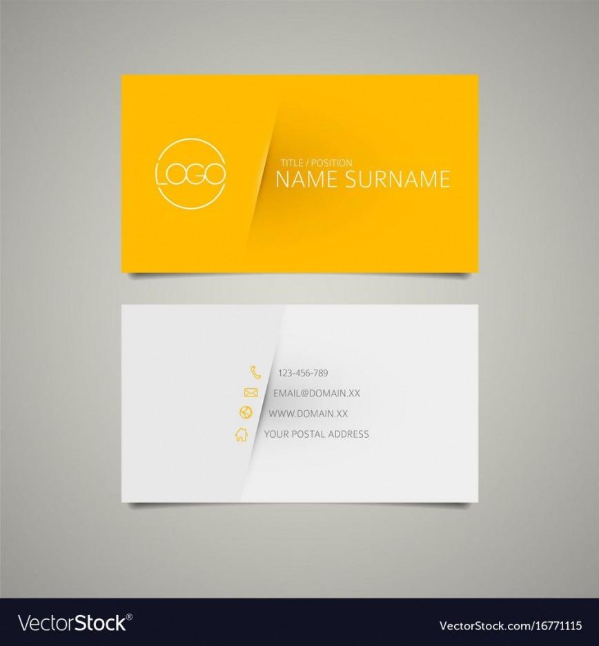 009 Unforgettable Simple Busines Card Template Free Idea  Minimalist Illustrator Design868