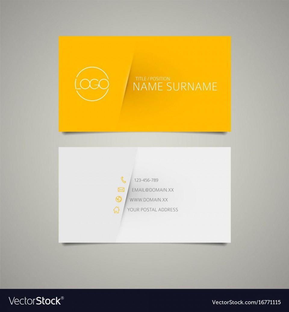 009 Unforgettable Simple Busines Card Template Free Idea  Minimalist Illustrator Design960