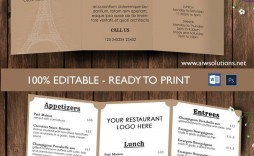 009 Unforgettable Take Out Menu Template High Definition  Tri Fold Free Word Restaurant Away