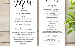 009 Unforgettable Wedding Order Of Service Template Word Sample  Free Microsoft