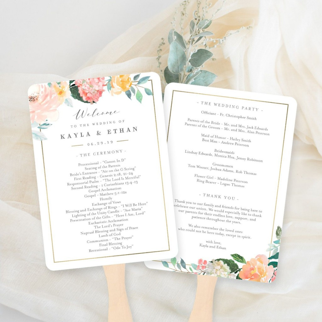 009 Unforgettable Wedding Program Fan Template Inspiration  Free Word Paddle Downloadable That Can Be PrintedLarge