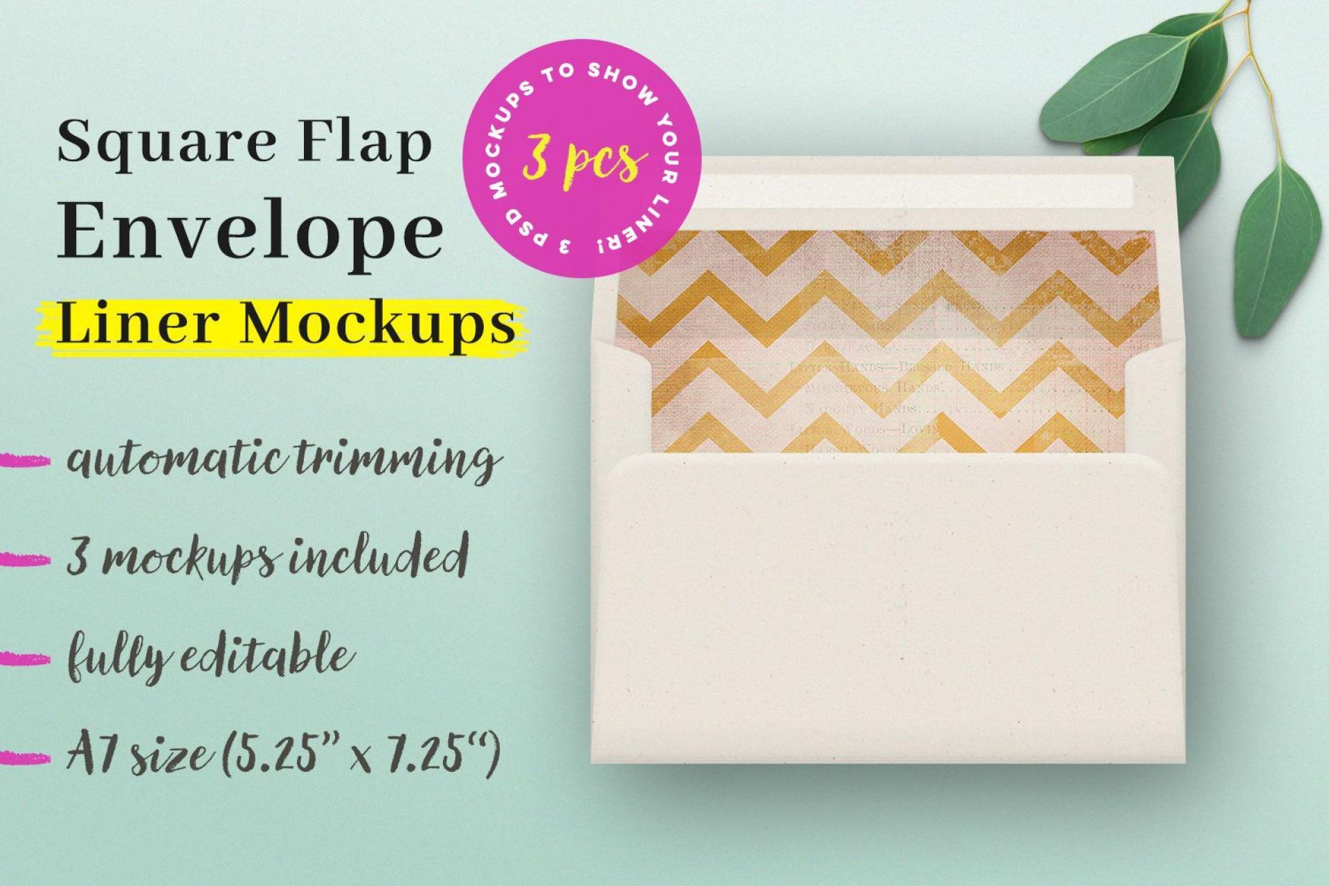 009 Unique A7 Envelope Liner Template Square Flap High Resolution 1920