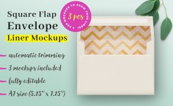 009 Unique A7 Envelope Liner Template Square Flap High Resolution
