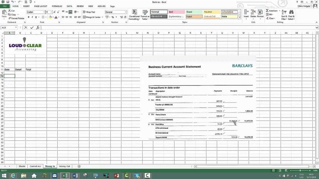 009 Unique Bank Reconciliation Statement Format Excel Sheet Design  DownloadLarge