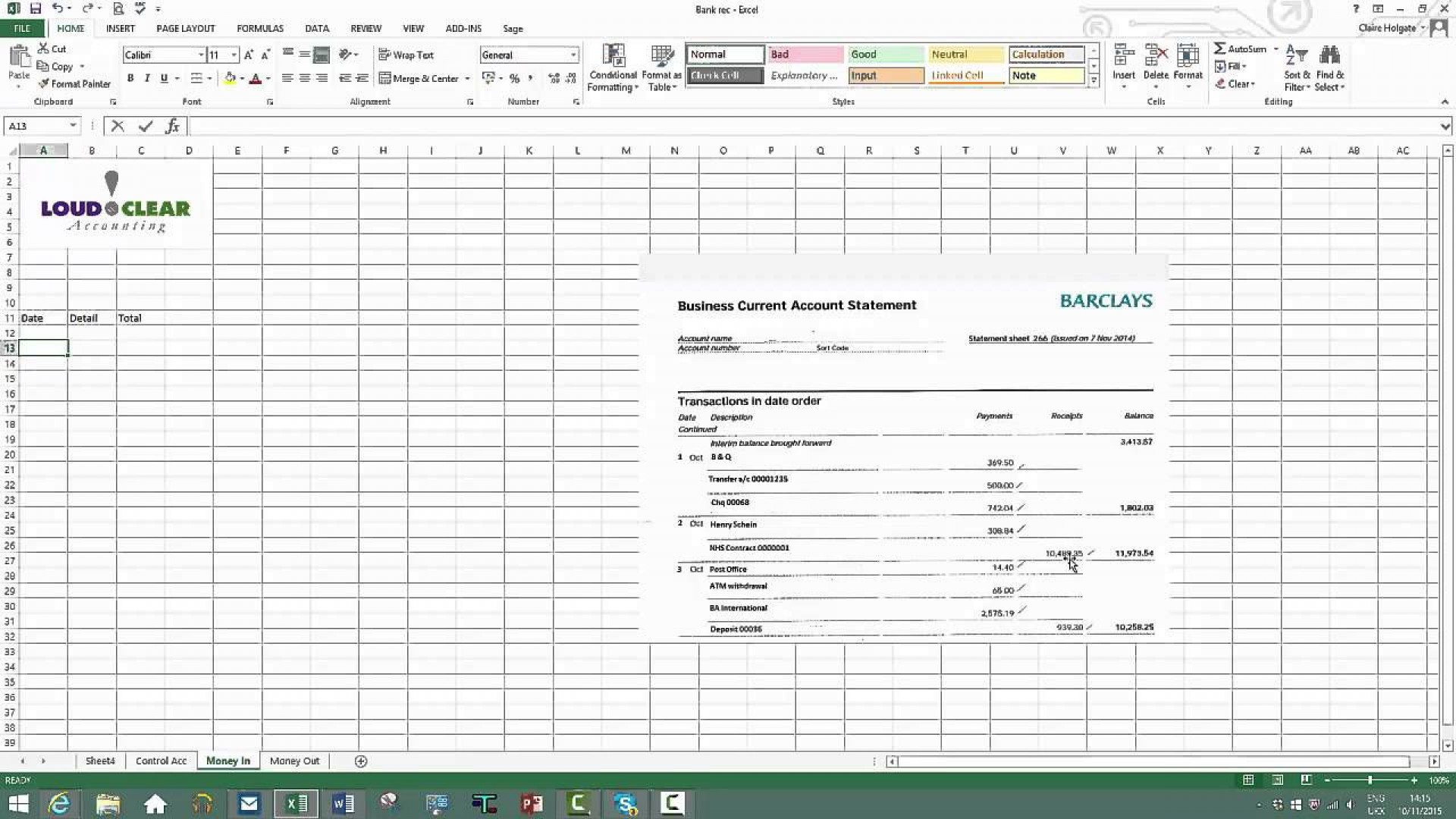 009 Unique Bank Reconciliation Statement Format Excel Sheet Design  Download1920