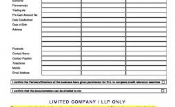 009 Unique Busines Credit Application Form Uk Image  Template Free Account