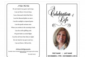 009 Unique Free Celebration Of Life Program Template Download Image