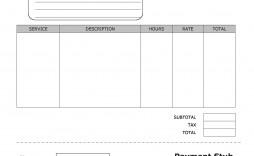 009 Unique Free Pay Stub Template Excel Design  Canada