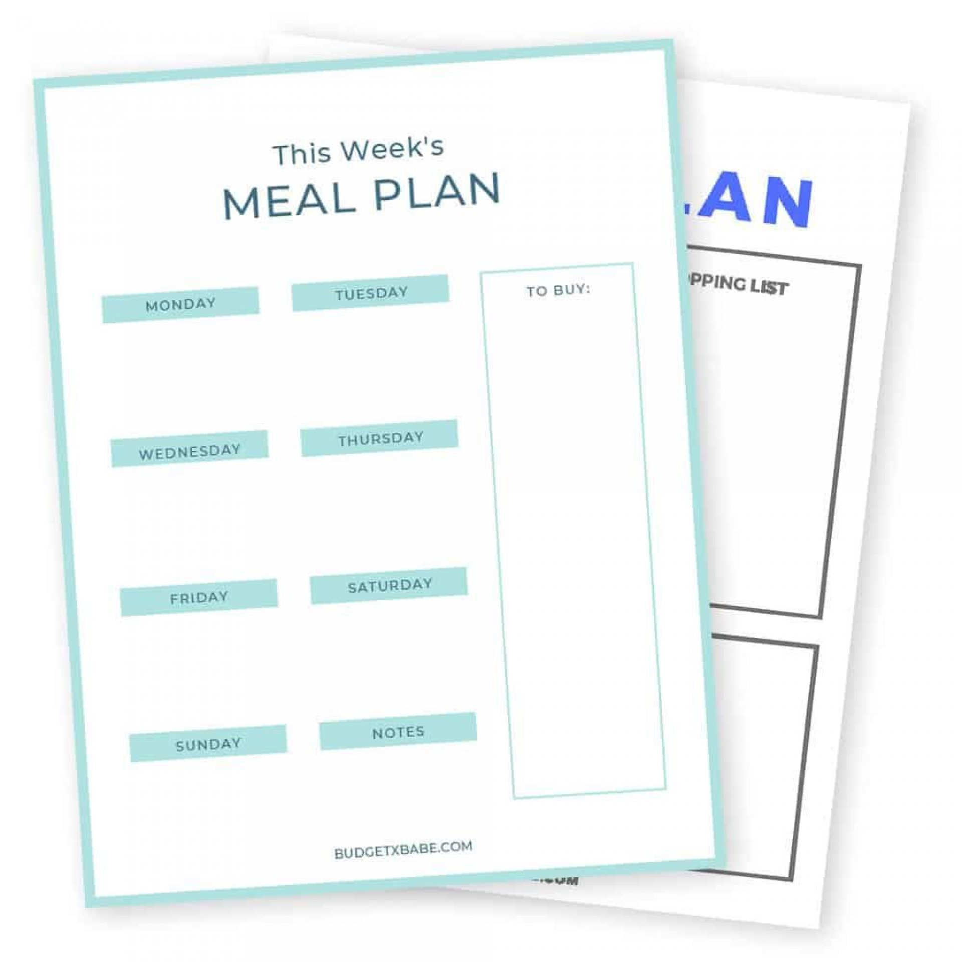 009 Unique Free Printable Weekly Meal Plan Template Picture  Planning Worksheet1920