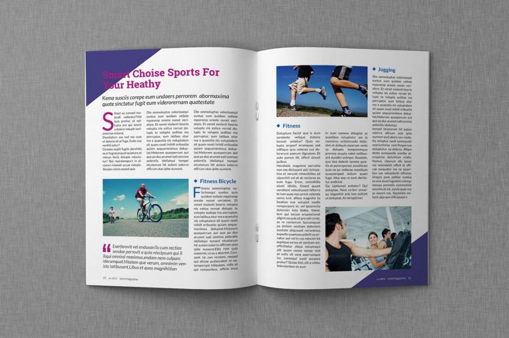009 Unique Magazine Template For Microsoft Word Image  Layout Design DownloadLarge