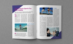 009 Unique Magazine Template For Microsoft Word Image  Layout Design Download