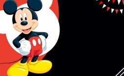 009 Unique Mickey Mouse Invitation Template Image  Templates Clubhouse Birthday Free 1st Download