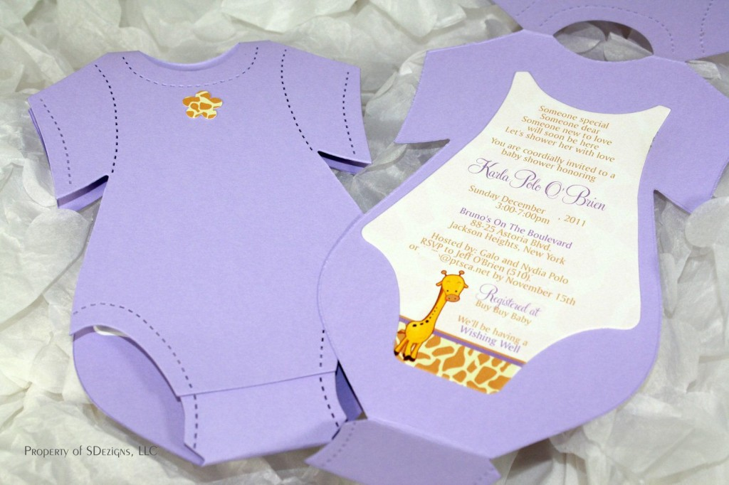009 Unique Onesie Baby Shower Invitation Template Image  FreeLarge