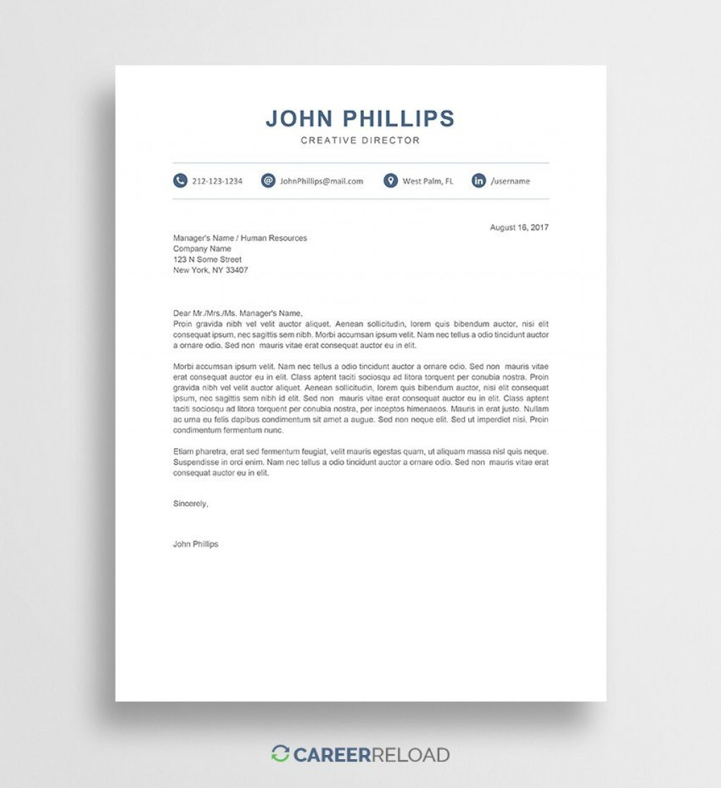 009 Unique Resume Cover Letter Template Word Free Inspiration Large