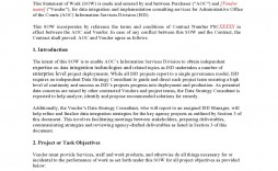 009 Unique Sample Statement Of Work For Consulting Service Highest Quality  Services Example