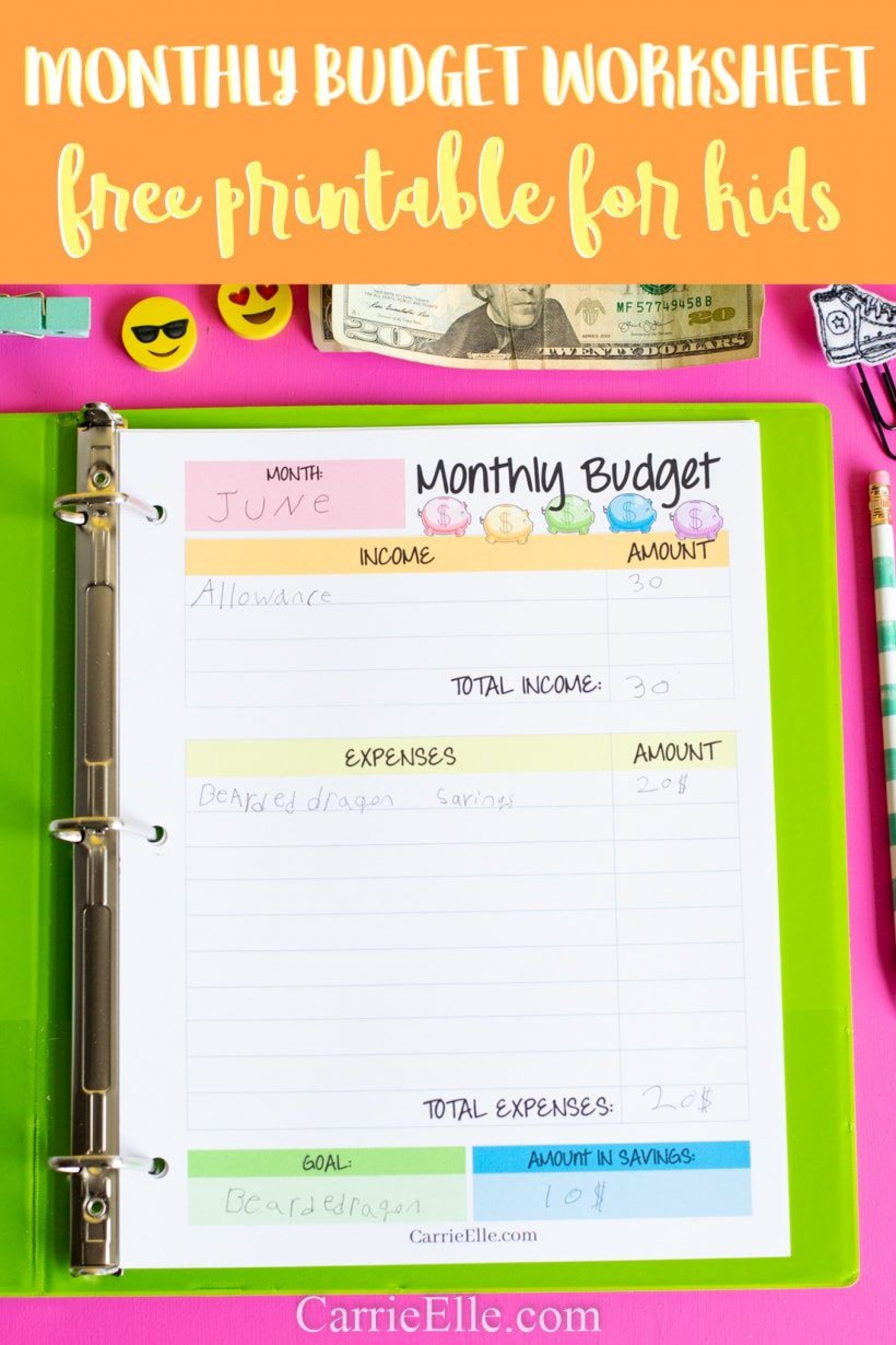 009 Unique Simple Monthly Budget Template Free Printable Highest Quality 1920