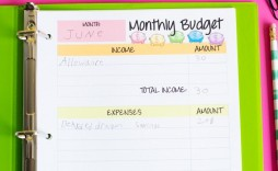 009 Unique Simple Monthly Budget Template Free Printable Highest Quality