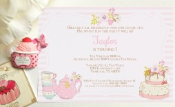 009 Unique Tea Party Invitation Template High Resolution  Templates Free Download Bridal Shower