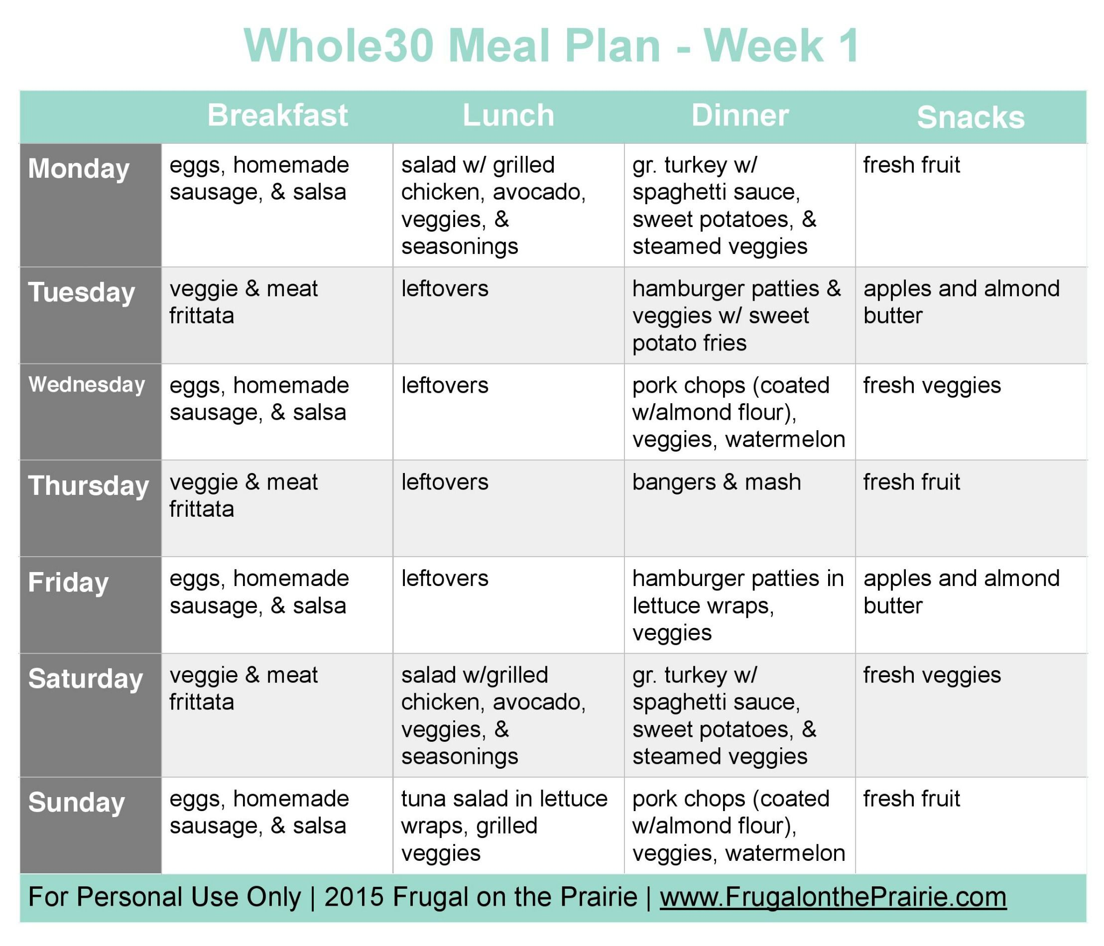 009 Unique Weekly Meal Plan Example Concept  Examples Keto One Week TemplateFull