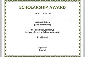 009 Unusual Certificate Of Award Template Word Free Concept