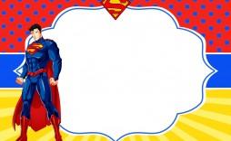 009 Unusual Editable Superhero Invitation Template Free Example