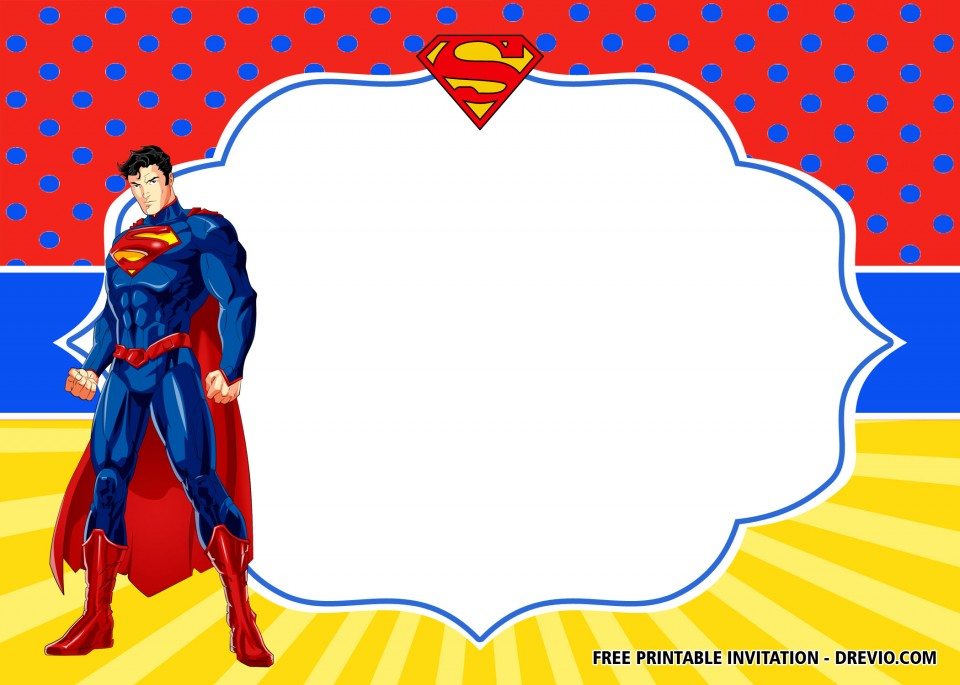 009 Unusual Editable Superhero Invitation Template Free Example 960