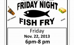 009 Unusual Fish Fry Flyer Template Picture  Printable Free Powerpoint Psd