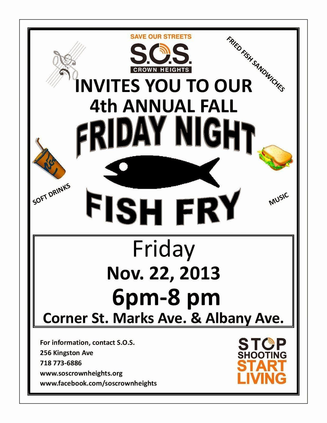 009 Unusual Fish Fry Flyer Template Picture  Printable Free Powerpoint PsdFull