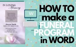 009 Unusual Free Funeral Program Template Example  Word Catholic Editable Pdf
