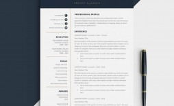 009 Unusual Free One Page Resume Template High Resolution  Word Download 2018 Best