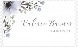 009 Unusual Free Place Card Template High Resolution  Wedding Download Christma Name Word