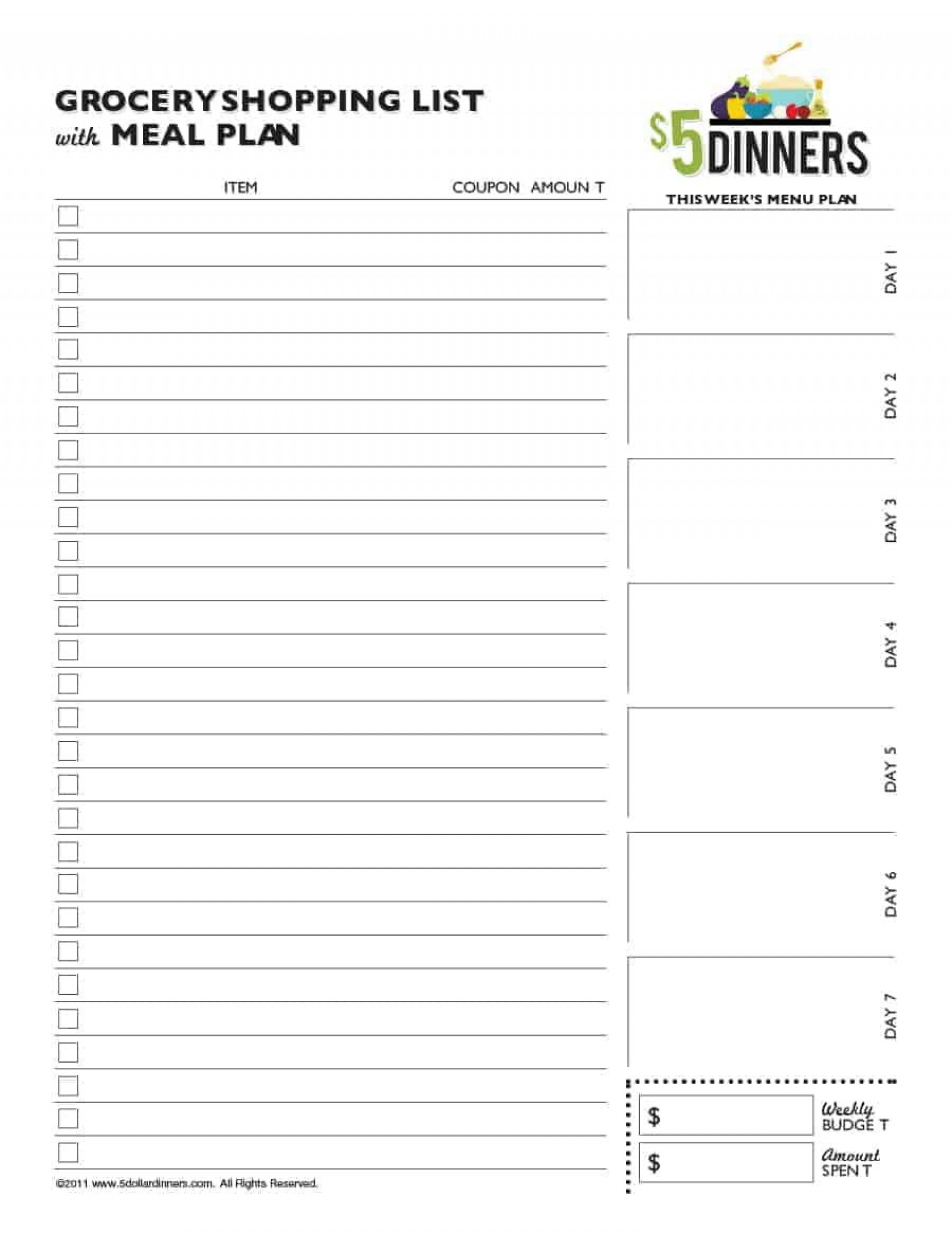 009 Unusual Grocery List Template Word Doc Highest Clarity  Shopping Document1920