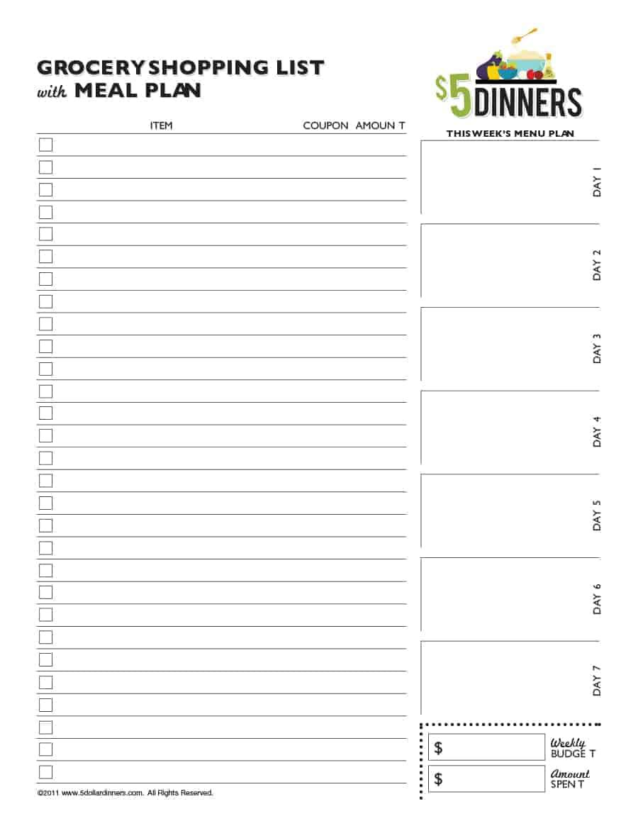 009 Unusual Grocery List Template Word Doc Highest Clarity  Shopping DocumentFull