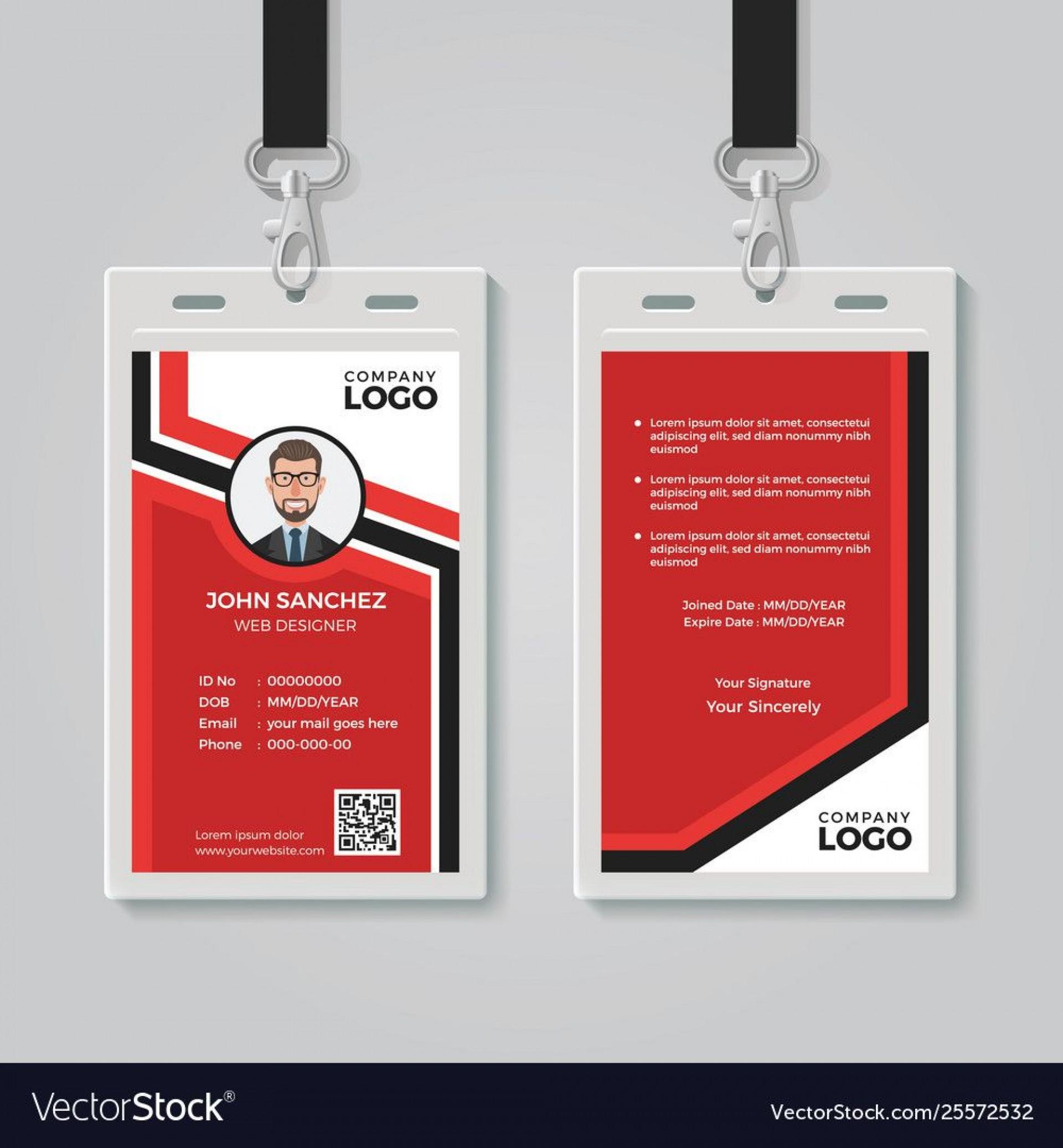 009 Unusual Id Card Template Free Image  Download Pdf Design1920