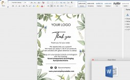 009 Unusual M Word Thank You Note Template Image  Microsoft Interview Letter