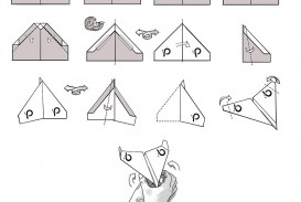 009 Unusual Printable Paper Airplane Folding Instruction High Resolution