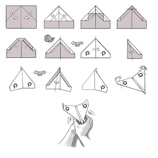 009 Unusual Printable Paper Airplane Folding Instruction High Resolution 320