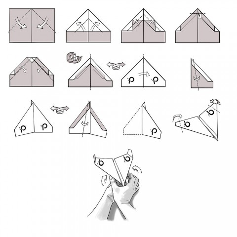009 Unusual Printable Paper Airplane Folding Instruction High Resolution 480