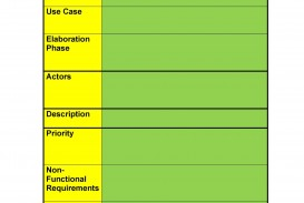 009 Unusual Use Case Template Word Highest Clarity  Doc Test