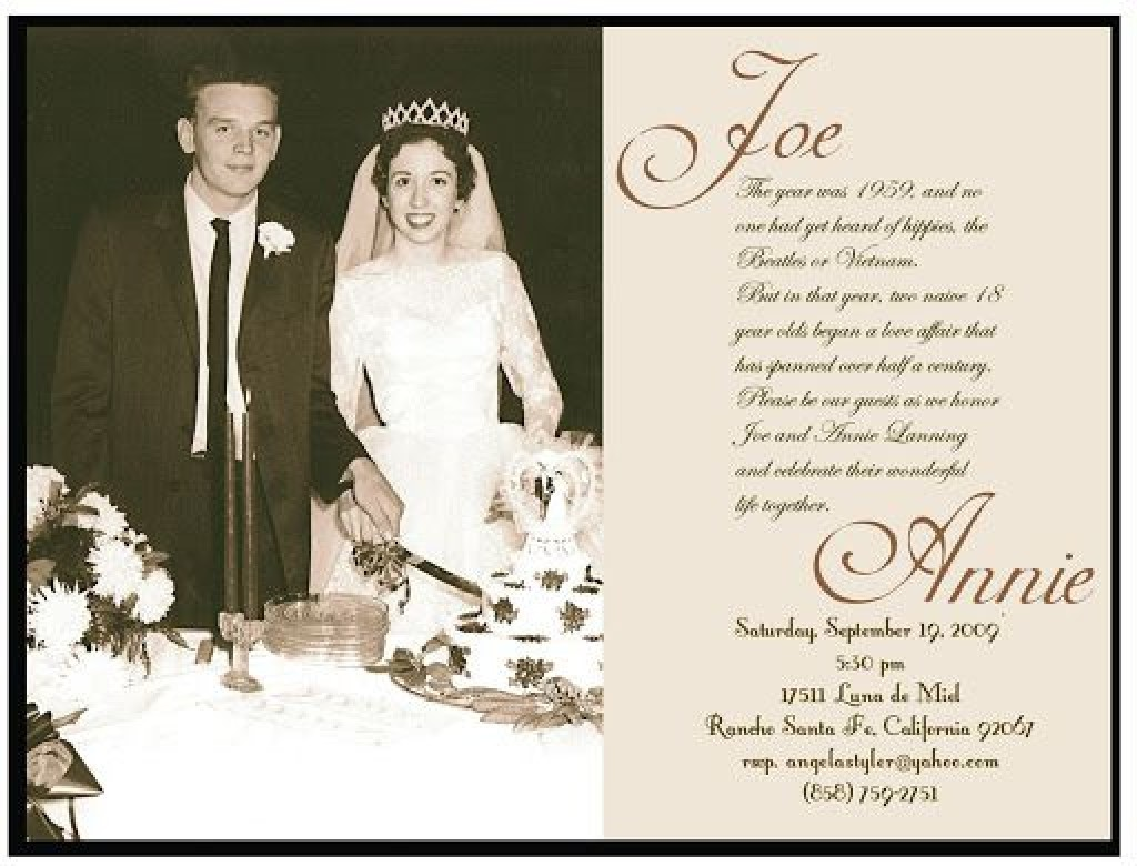 009 Wonderful 50th Wedding Anniversary Invitation Template Concept  Templates Golden Uk Free DownloadLarge