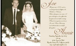009 Wonderful 50th Wedding Anniversary Invitation Template Concept  Templates Golden Uk Free Download