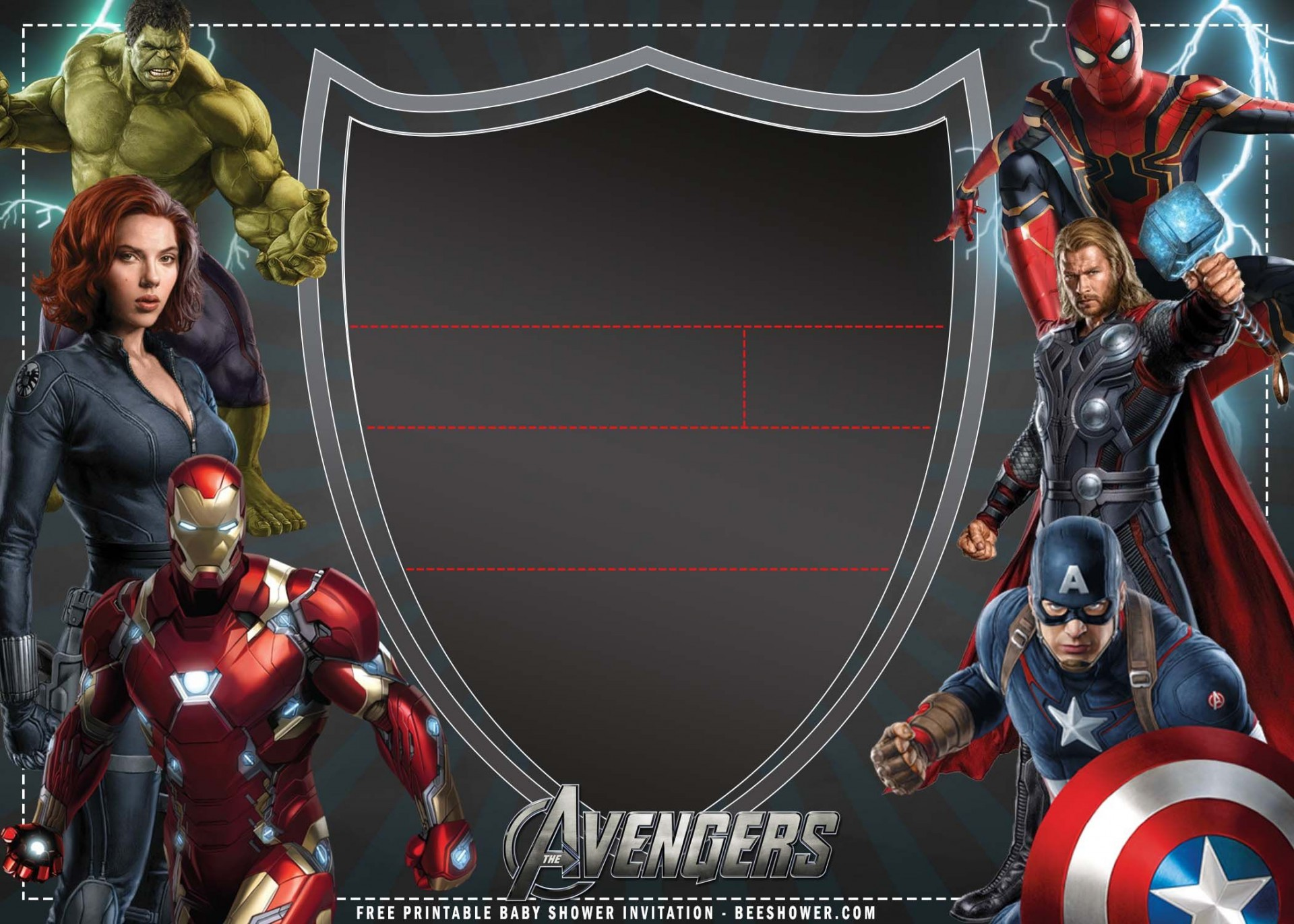009 Wonderful Avenger Birthday Party Invitation Template Free High Definition  Invite1920