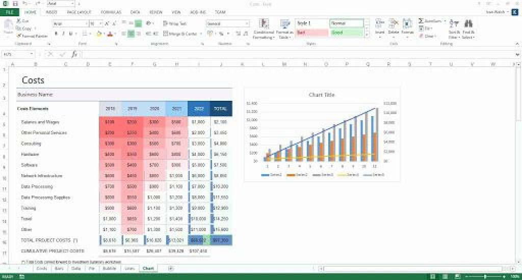 009 Wonderful Busines Plan Template Excel Inspiration  Financial Free ContinuityLarge