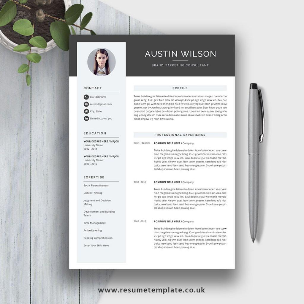 009 Wonderful Eye Catching Resume Template Sample  Microsoft Word Free Download MostLarge