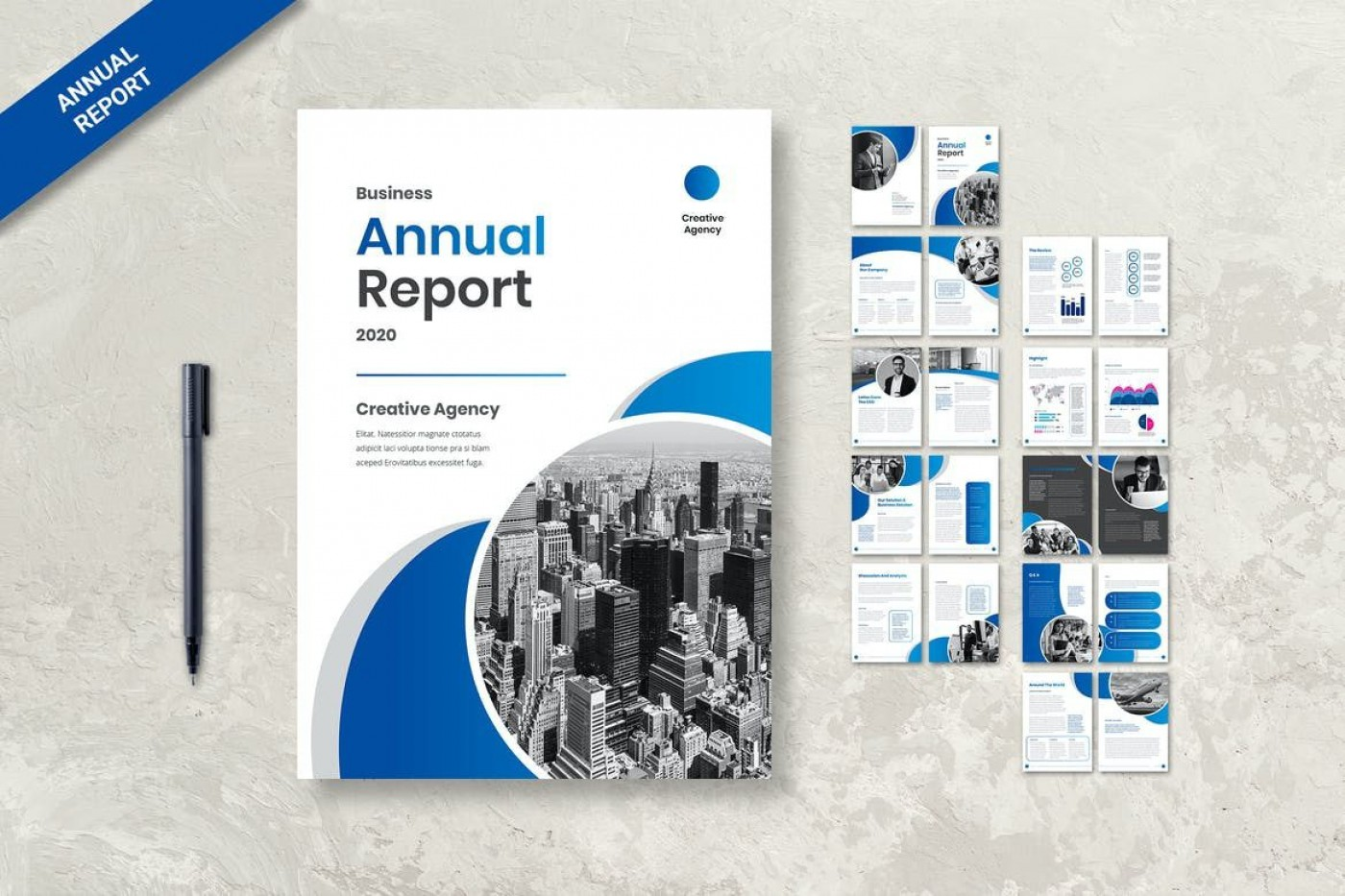 009 Wonderful Free Download Annual Report Cover Design Template High Resolution  In Word Page1400