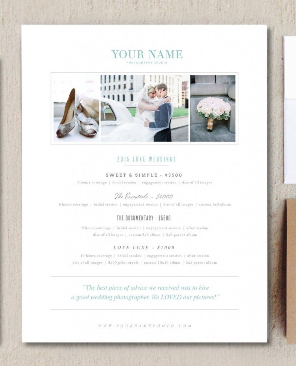 009 Wonderful Free Photography Package Template Highest Clarity  PricingLarge