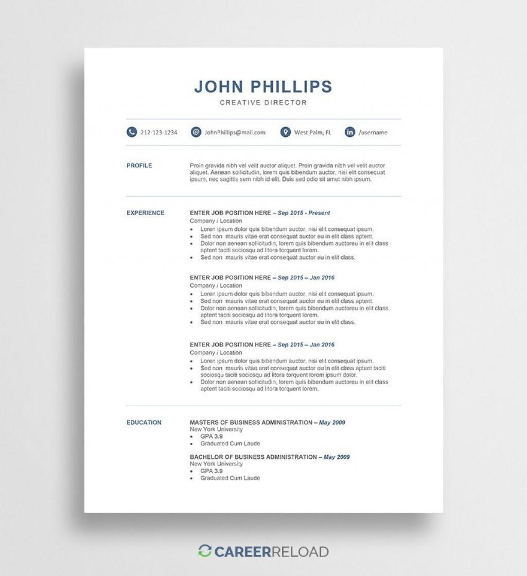 009 Wonderful Free Resume Template 2015 High Def Large