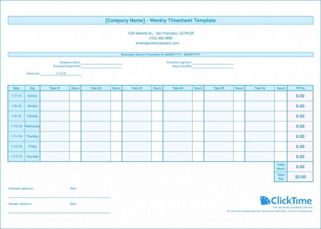 009 Wonderful Free Weekly Timesheet Template Image  For Multiple Employee Biweekly Excel With FormulaLarge