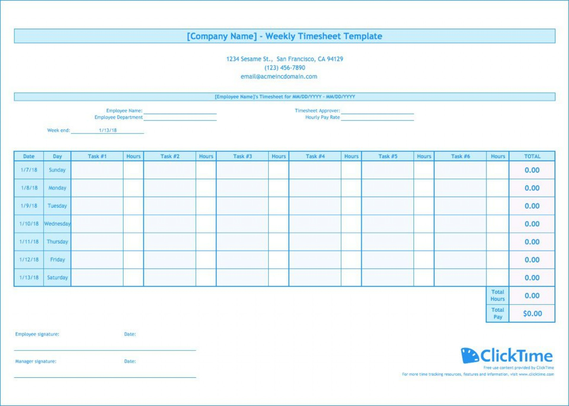 009 Wonderful Free Weekly Timesheet Template Image  For Multiple Employee Biweekly Excel With Formula1920