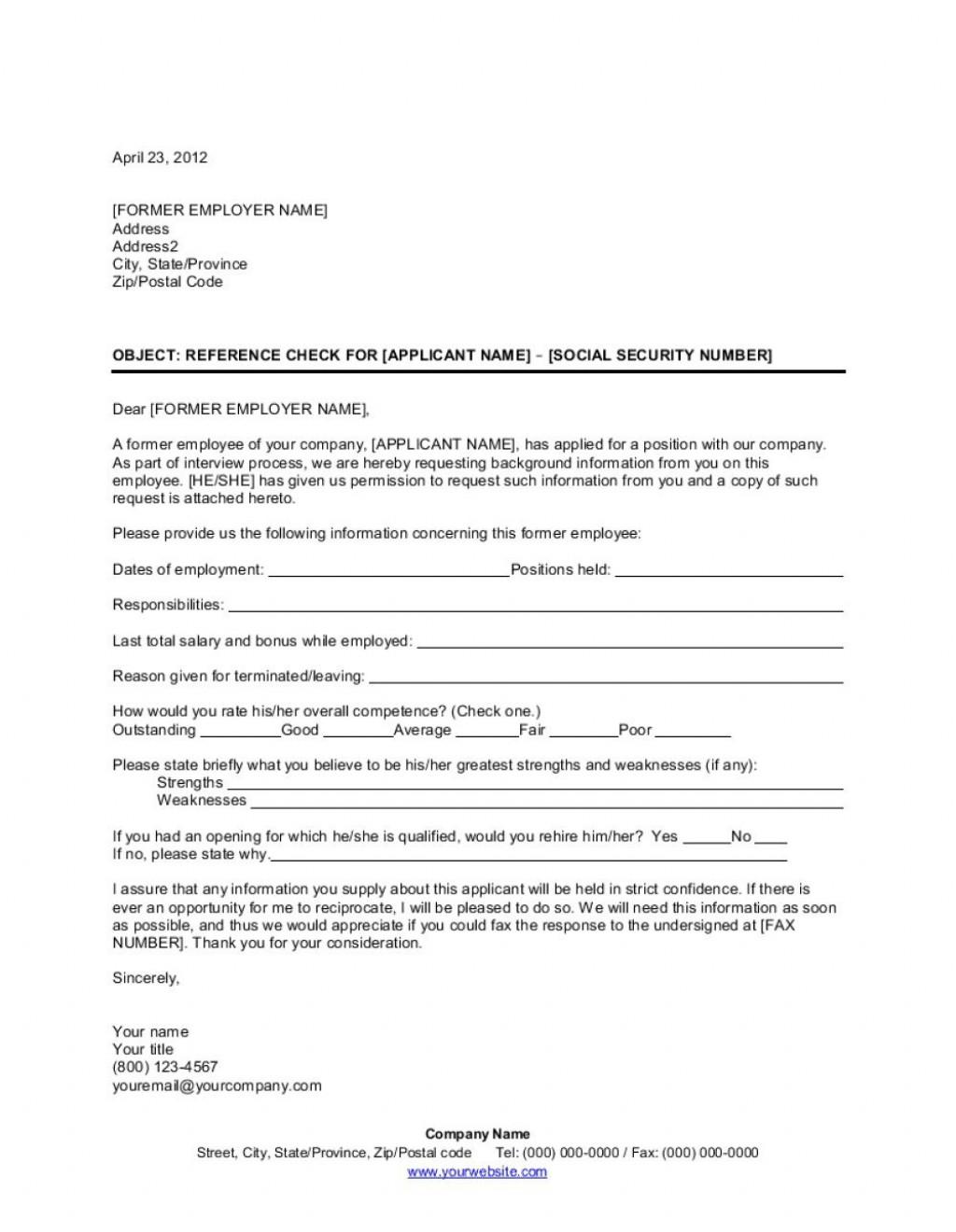 009 Wonderful Letter Of Reference Template High Definition  Pdf For Student Volunteer TeacherLarge